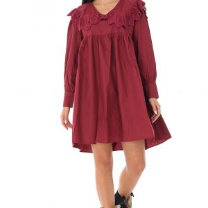 ladies-baby-doll-style-tunic-dress-roh-with-lace-trim-wine-dr4232-9568-1